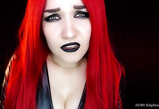 ASMR solo with redhead devil babe