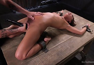 Slender whittle Amara Romani tied up and gets verge on penetrated
