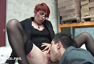 Sexually Beloved Short Haired Redhead Ass Screwing