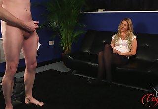 Amateur comme ci Sky Monroe enjoys watching a horny guy jerk off