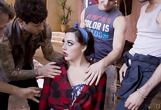 Patriotic pamper Whitney Wright is fucked unconnected with several guys