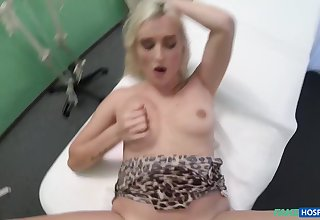 Blonde streetwalker cheat hubby with horny doctor