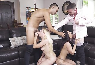 Alessia Luna and Nikki Sweet's freakish foursome with their stepfathers