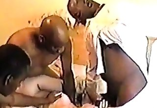 Girl taking cum in mouth from outrageous guy.