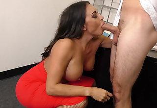 Leggy MILF Boss Claudia Valentine fucks employee
