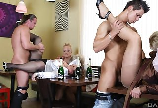 Sex between younger guys plus horny matures Amadea Emily & Gabrielle Gucci