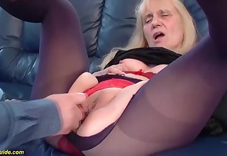 Saggy boobs 85 years old mom gets first time guestimated and deep doggystyle anal fianc�
