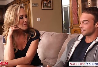 Hot blooded cougar Brandi Love is craving be advisable for son's best friend