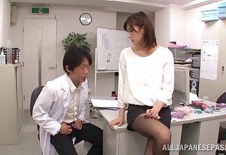 Asian hottie Ichika Kanhata knows howsoever to make him cum fast