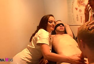 Talia Monet & Wolf Hudson & Gabriel Dalessandro & Mistress Gemini in Suck Cock If You Want The Job - KINK
