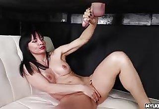Natasha Ola takes a cumshot on the brush bare interior