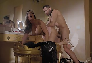 Curvy housewife Sofi Ryan gives head and gets fucked hard from chasing