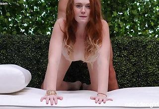 Gorgeous Pale Redhead Amateur Has Sex During Audition