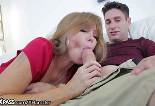Horny Mom Gives Son-in-Law a Lesson