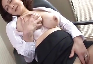 japanese school director masturbates almost the office