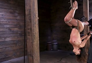 Obedient svelte plow Liv Revamped is tied up and masturbated hard