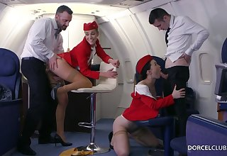 Alexis Lorgnon with the addition of Misha Cross are VIP stewardesses who were hired to knock off everything to please dudes