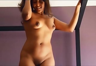 Indian woman strip and play