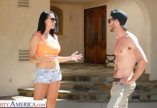 Young dude enjoys going to bed mega busty friend's mommy Reagan Foxx