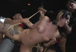 Slaves spanked and gangbang fucked