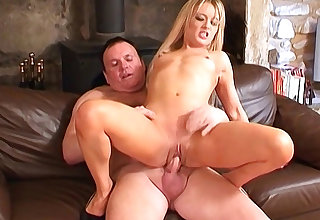 X-rated petite tow-headed secretary gets pounded hard