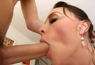 Chanel blowjob then deepthroat cum close by mouth
