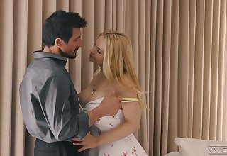 Lubricious young blonde Sarah Vandella is assembly love with horny sugar dad