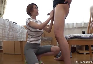 My hot Asian next-door neighbor Kimijima Mio makes me cum