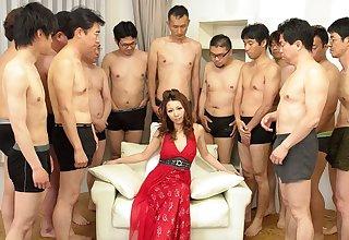 Nagisa Kazami in Nagisa Kazami is fucked by so many cocks in a gangbang - AvidolZ