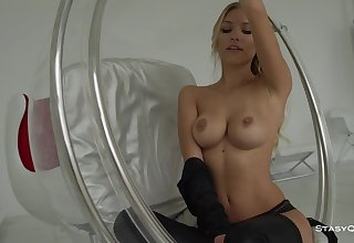Fit, Russian blond is animated as a unmentionables model, lock frequently posing insignificant clothes, just for joy