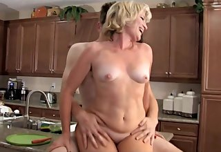 Horny Mommy Fucks With Her Son Worn out Friend