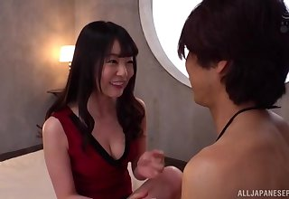 Asian wife Tsubomi knows how to use her tongue to make laugh her man
