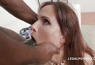 Coquettish Mature Gets Creampied By Big Black Dick - syren de mer