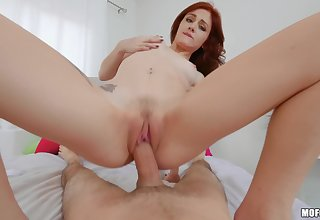 Adorable redhead treats herself with dick in a superb POV