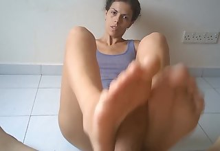 My first in life footjob - he had cum