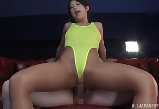 Japanese in sexy bikini, nice riding insusceptible to bushwa in POV scenes