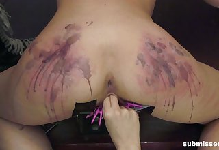 Brutal pussy and ass anguish session by flaxen-haired Goddess Starla