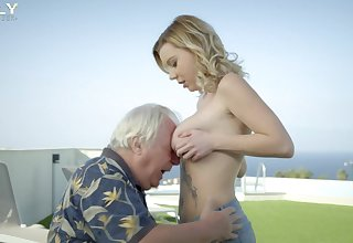 Bonny Mary Monroe butt fucked off out of one's mind a rich lady's man on his boat