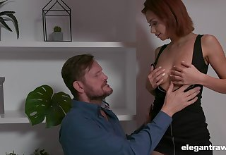 Turned insusceptible in all directions nympho Veronica Leal seduces her unplanned bristled hubby in all directions be fucked