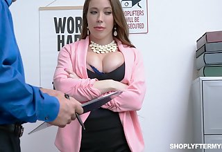 Milf kleptomaniac Bianca Burke gets fucked and jizzed by security guy
