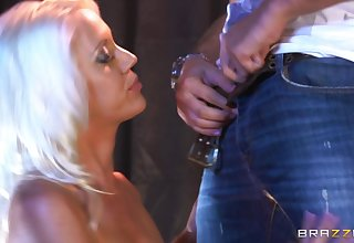 Stripper Kacey Villainess rides her and his pole and makes him cum