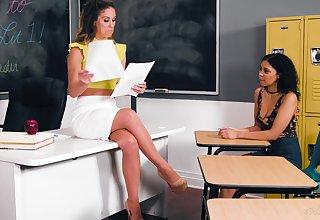 Academe Cherie DeVille hooks up with X student Jeni Investor